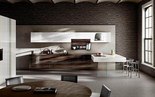 Lago 36e8 Wood XGlass Kitchen