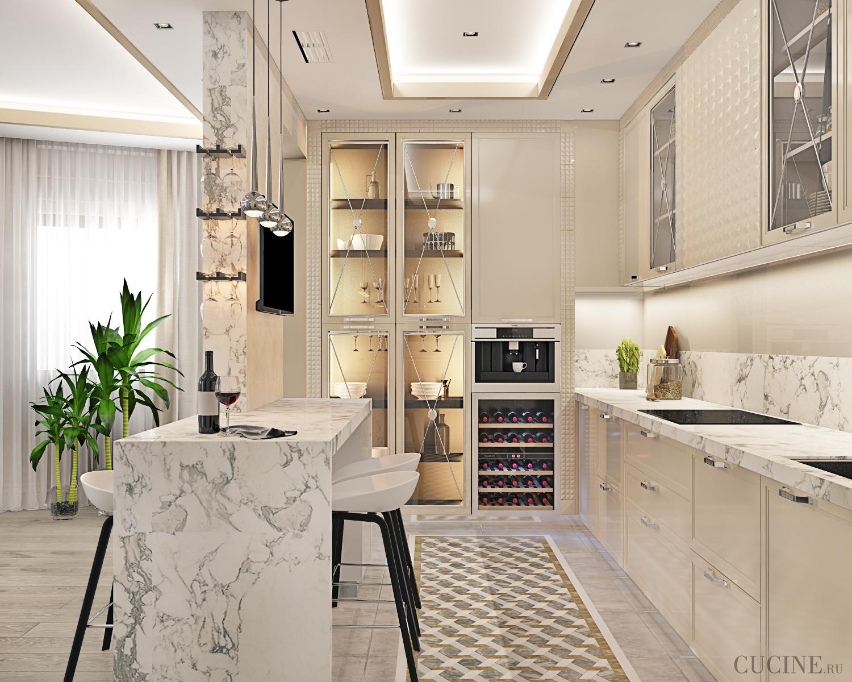 Кухня Platino mobili Deco 3D из Италии, купить итальянскую ...
